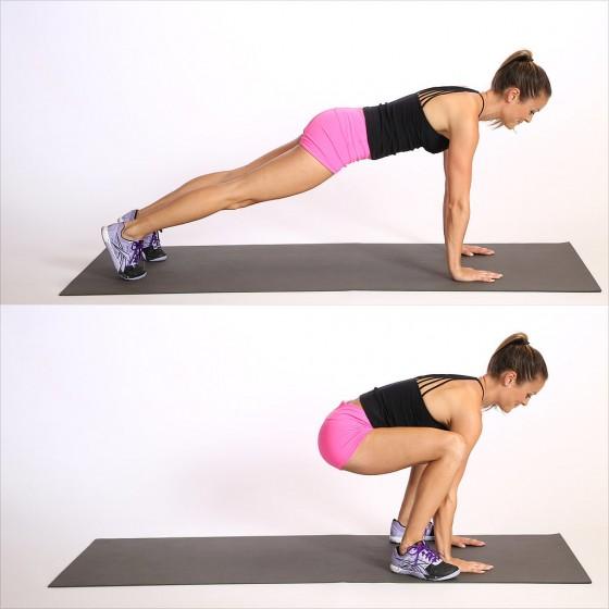 Plank jumps หรือ การวิดพื้น