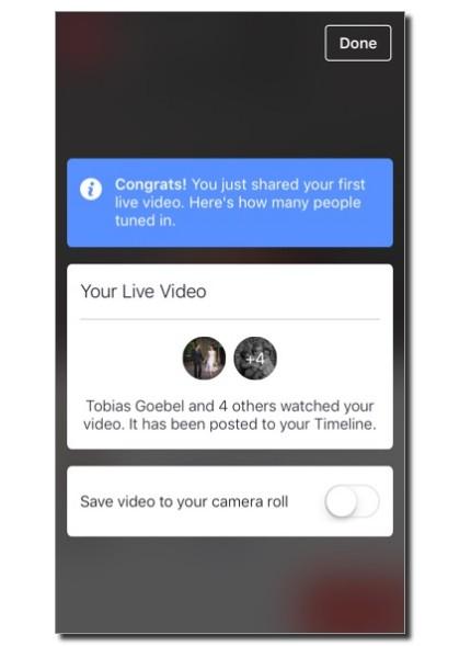 Save video after Live Facebook